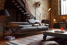 Industrial Style. Living room