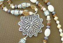 boho beaded necklace and bracelets