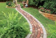 Paths in yard, boarders, patios, brick, cobblestone,....