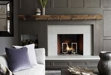 Cozy Fireplaces / When the cold weather arrives, there might not be a better feeling than curling up next to a warm fireplace!  Get inspired by this collection of beautiful fireplaces!