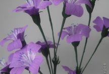 flores de papel crepe