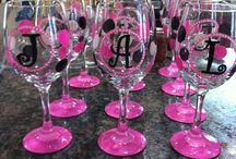 Painted Wine Glasses