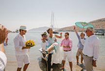 Kythnos 'taverna style' beach wedding /  #kyhtnoswedding #potamia #beachparty  #J&S #weddingplanning #marriagecyclades #lafetegr