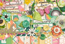 Spring scrapbooking kits / Digital scrapbooking kits and elements with a spring theme.