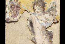 Roman art Roman frescoes Pompeii frescoes wall paintings / Roman fresco / Roman paintings / Pompeii fresco /  Herculaneum fresco /  Boscoreale fresco / Villa of the Mysteries / Theatrical mask