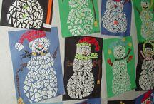 Winter knutselen & tekenen