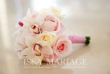 Buchet mireasa din orhidee si trandafiri roz pal / buchet domnisaore onoare orhidee si trandafiri roz pal