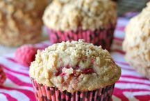 Baked goodness / The baked goods our family enjoys in moderation. #Whole grains, homemade bread, muffins, desserts, cooking with fruit, local flours, local fruit, farmers market, raspberry, blueberry, strawberry, carrots, cornmeal, spelt, flour, bran.