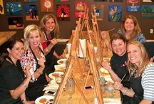 Upcoming Painting Parties / A selection of our BYOB Painting parties