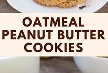 PEANUT butter and oatmeal cookies