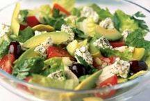 Saladas saudáveis e molhos