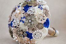 Royal blue/rose gold wedding