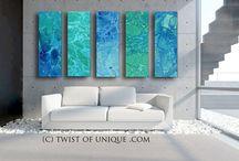 abstrakte Malereien