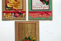 Cards using Kaisercraft Collections.