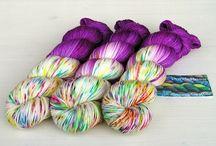Yarn Wolle / Hier seht ihr meine Handgefärbte Wolle