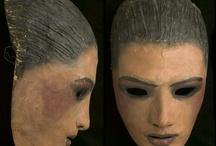 Masques de spectacle XXe siecle fin XIXe
