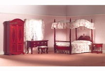 Dolls' house bedroom  / Miniature furniture for your dollhouse bedroom boudoir / by Dolls House Emporium
