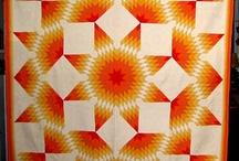 Antique quilts: Lone star / Старинные квилты: Одинокая звезда