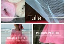 Fabric sewing Tulle