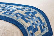 Pie de cama en patchwork