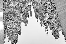 Pretty Drawings  / Mostly Zentangles, Mandalas, etc ☺️