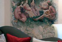Художественная роспись / Роспись стен, роспись потолков, роспись мебели, роспись по стеклу