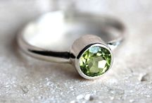 Birthday Envy / Peridot rings to celebrate those born in August