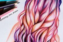 Dibujo de cabello