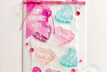 Joy Clair - Candy Hearts Clear Stamp Set / This board showcases projects created using Joy Clair's Candy Love Clear stamp set.  This stamp set is perfect for Valentines day!