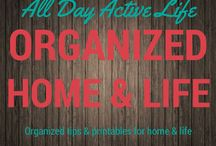 Organization: Home & Life / Being organized is a cinch right now with all the tips and printable files that are available at your fingertips.  Your personal and home life can be truly focused.