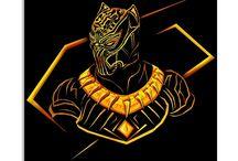 Golden Jaguar and Black Panther