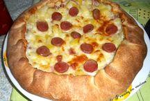 la pizza con patate e cipolla