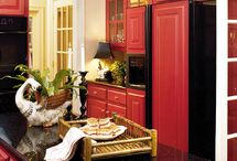 Red kitchens / It's time to repaint our kitchen and I know this time I'm going for red.