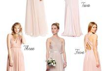 Blush and silver wedding mood board
