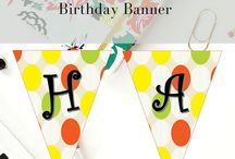 Printable Birthday Party Supplies / Printable Party Designs