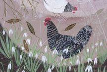 les poules et autres gallinacées