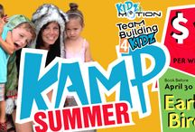 """Kidz360 Camps / """"Our """"Camps"""" offer the ultimate Kidz360 March Break and Summer experience. Combining all the best parts of our various Kidz Programming including Kidz in Motion and Teambuilding 4 Kidz, """"Kidz360 Kamp"""" is the ultimate experience in fun and learning."""