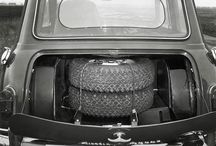 A rally version of a Morris Mini-Cooper S with an open boot. #ClassicMini - photo from miniusa