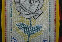 mozaik , gül , sanat ve tasarım , mimari