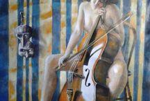 arte / opere dipinte a mano con olio su tela.