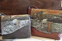 Victor - Dipinto su Pelle / borse in pelle fatte artigianalmente e dipinte a mano. Handmade leather bags with paintings
