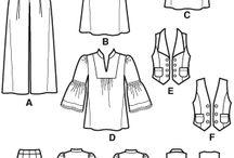 Technické nákresy  oděvů