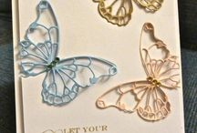 Card Ideas Butterflies / Inspiration for making cards using my beloved collection of butterfly dies. Mission - to try each one!