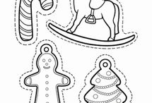 Vánoční omalovánky a jiné