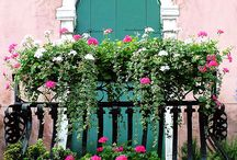 Beautiful Balconies / My inner romantic imagines a beauty waiting there for her Prince Charming... / by Linda