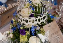 Shades of blue / Bouquets and decorations featuring shades of blue.  All floral design by www.elegantstems.co.uk