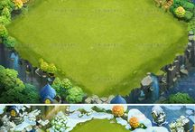 Game Art / 2D game icons of items, skills, GUI elements, 3D low poly stuff.