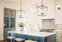 Kitchen bench pendant lights