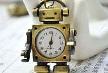 Geeky lovely robots