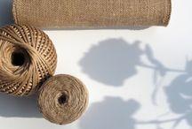Jute, burlap and garden. Jute til hagen. / Nettbutikken j-ute.no selger spennende og nyttige ting laget av jute (strie/burlap).